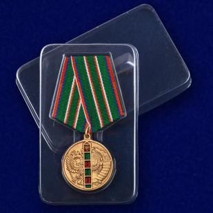 Медаль 95 лет Пограничным войскам в футляре