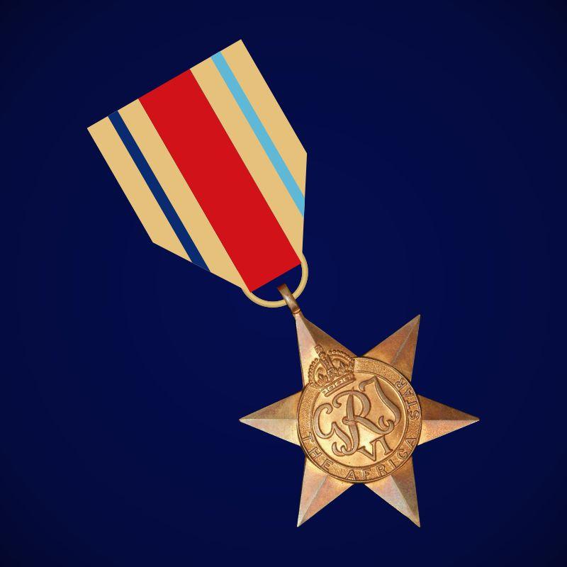 """Медаль """"Африканская звезда"""" (Великобритания)"""