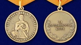 Медаль Александра Невского Защитнику земли русской - аверс и реверс