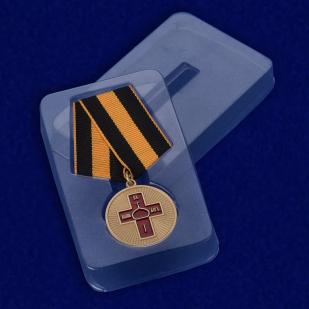 Медаль Дело Веры 1 степени -в пластиковом футляре