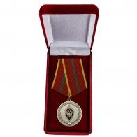 Медаль ФСБ РФ За отличие в военной службе I степени в бархатном футляре