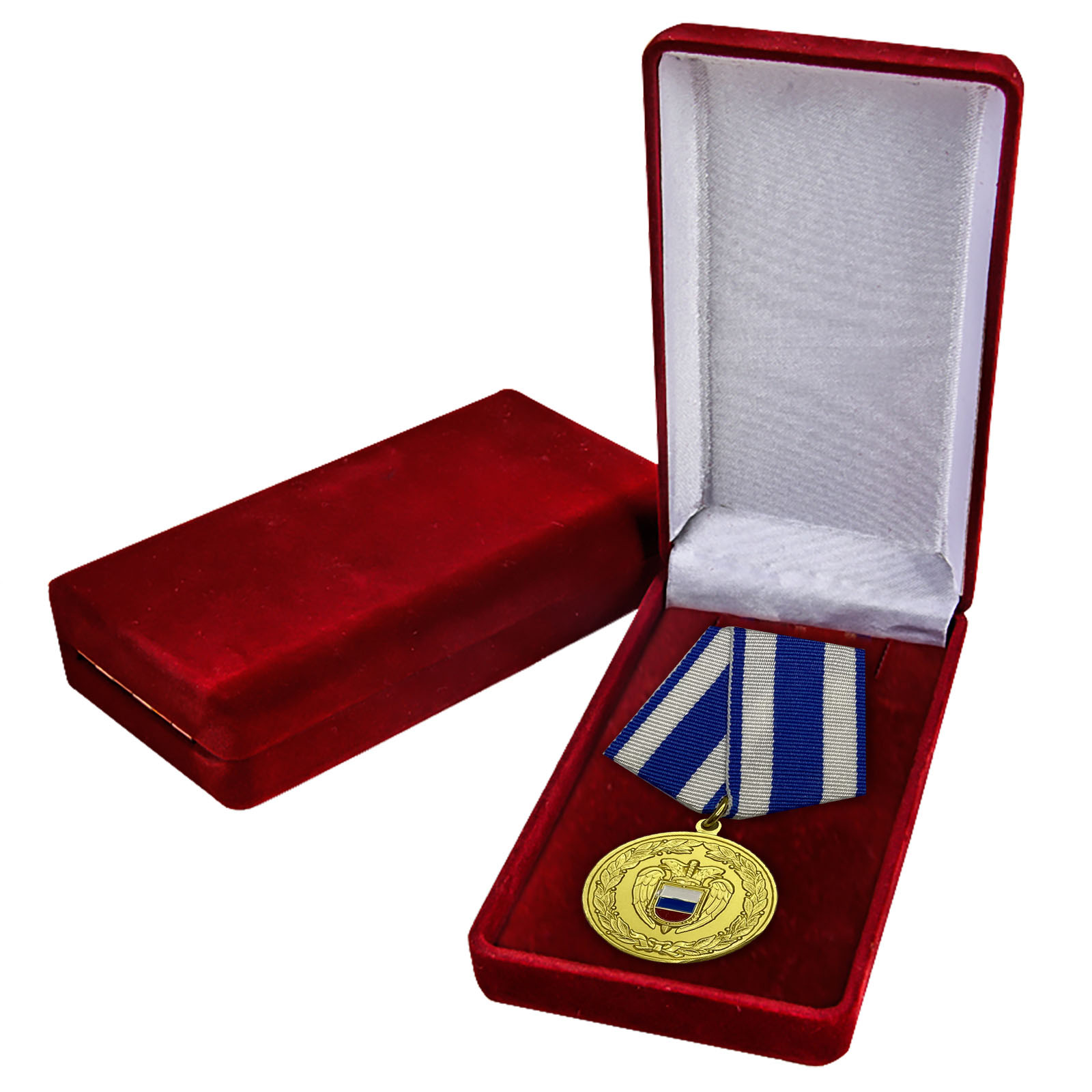 Медаль ФСО РФ За боевое содружество в бархатном футляре