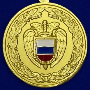 Медаль ФСО РФ За боевое содружество в бархатном футляре - Аверс