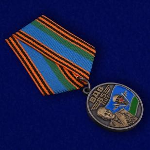 """Медаль """"Генерал армии Маргелов В. Ф."""" в бордовом футляре из флока"""