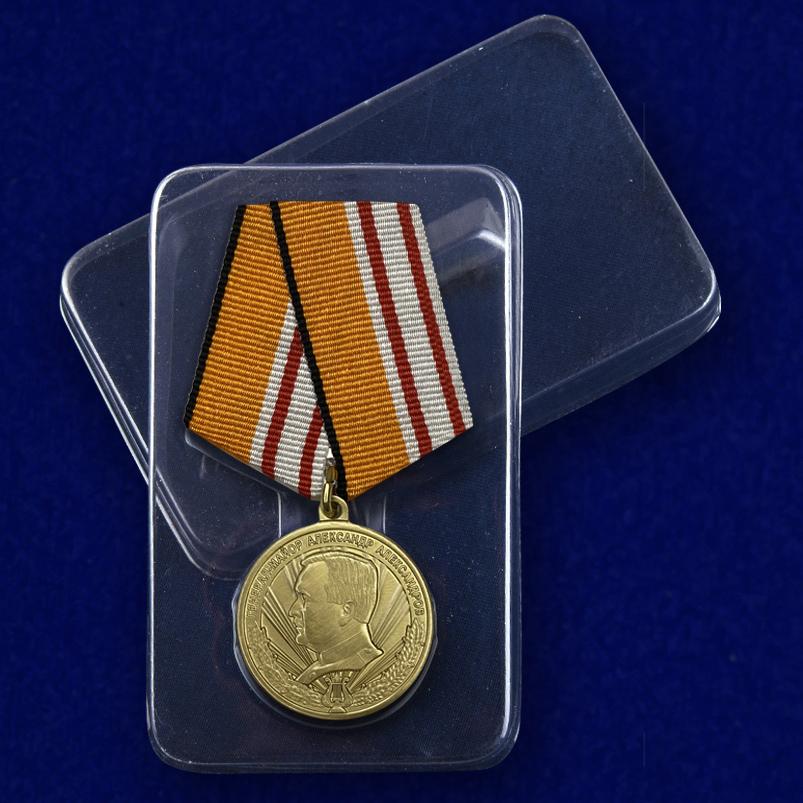 "Медаль ""Генерал-майор Александр Александров"" - пластиковая упаковка"