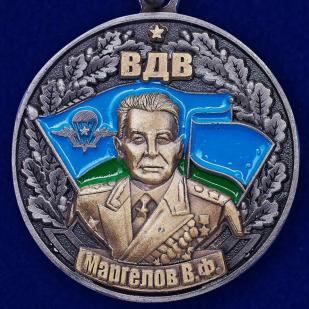 """Медаль """"Генерал В. Ф. Маргелов"""" в футляре из флока бордового цвета - купить с доставкой"""