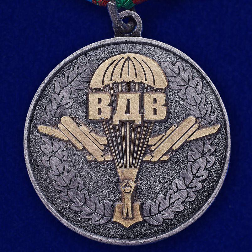 """Медаль """"Генерал В. Ф. Маргелов"""" в футляре из флока бордового цвета - купить по выгодной цене"""