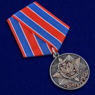Медаль к 100-летию Органов Госбезопасности в футляре из флока с прозрачной крышкой - общий вид