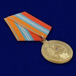 Медаль к 20-летию ГКЧС-МЧС в бархатистом футляре с пластиковой крышкой - общий вид