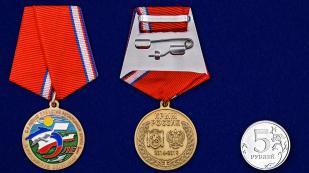 Медаль к 5-летию принятия Республики Крым в Российскую Федерацию - сравнительный размер