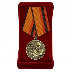 Медаль Калашникова МО РФ в футляре