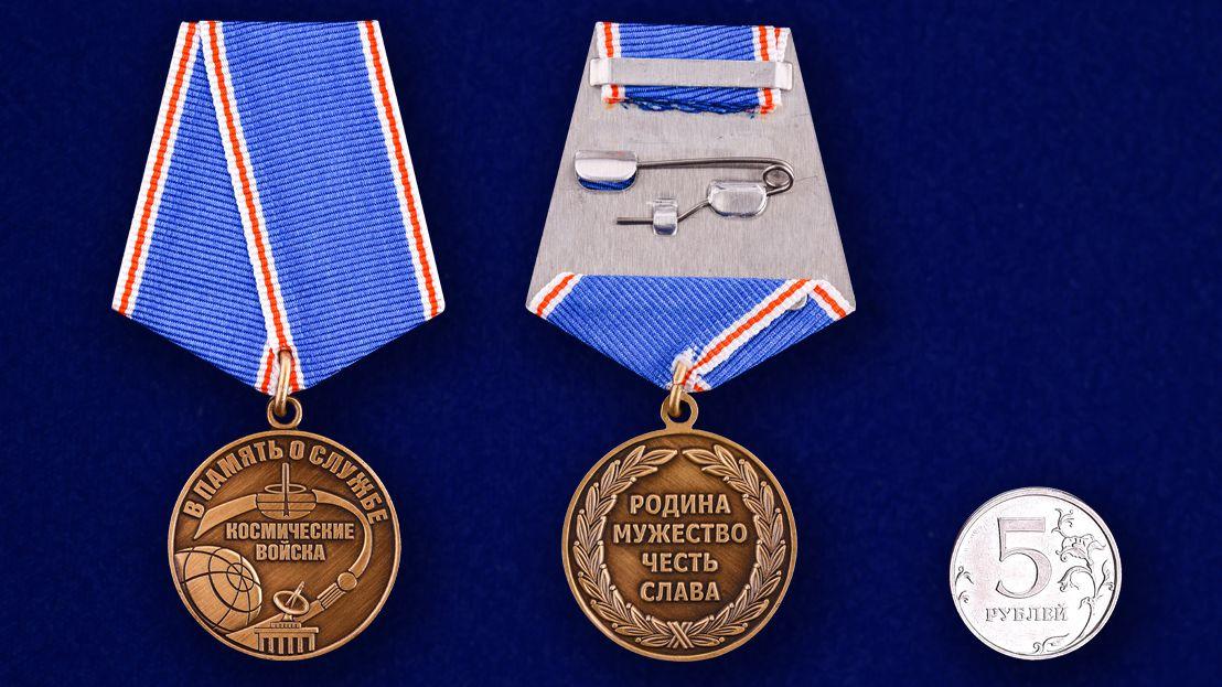 Медаль Космических войск «В память о службе»-сравнительный размер