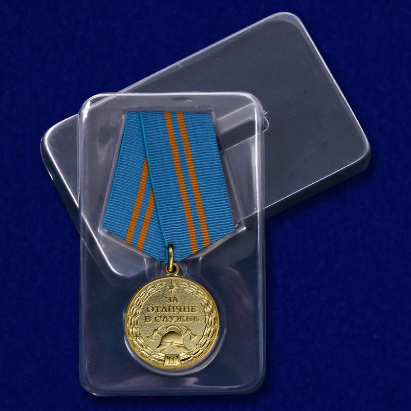 Медаль МЧС За отличие в службе 2 степени - в пластиковом футляре