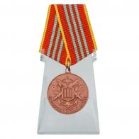 Медаль МЧС За отличие в военной службе 3 степени на подставке