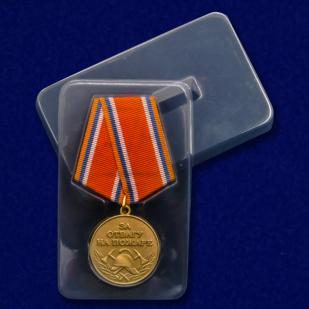 Медаль МЧС «За отвагу на пожаре» в футляре