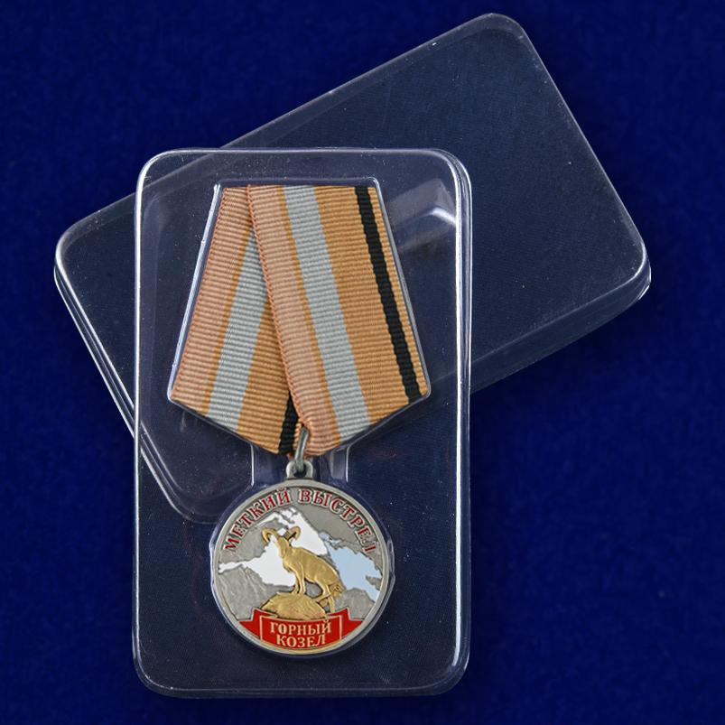 Медаль Меткий выстрел Горный козел - в пластиковом футляре