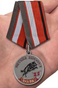 Медаль Меткий выстрел Волк - на ладони