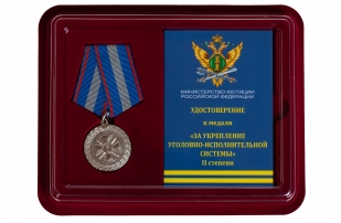 Медаль Минюста России За укрепление уголовно-исполнительной системы 2 степени