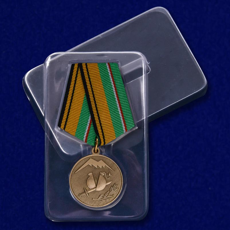 """Медаль """"Участнику разминирования в Чеченской Республике и Республике Ингушетия"""" в футляре"""