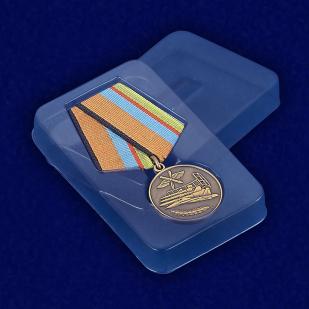 Медаль МО РФ «За службу в Военно-воздушных силах» - вид в футляре