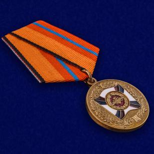 """Медаль МО РФ """"За трудовую доблесть"""" с удостоверением в футляре от Военпро"""
