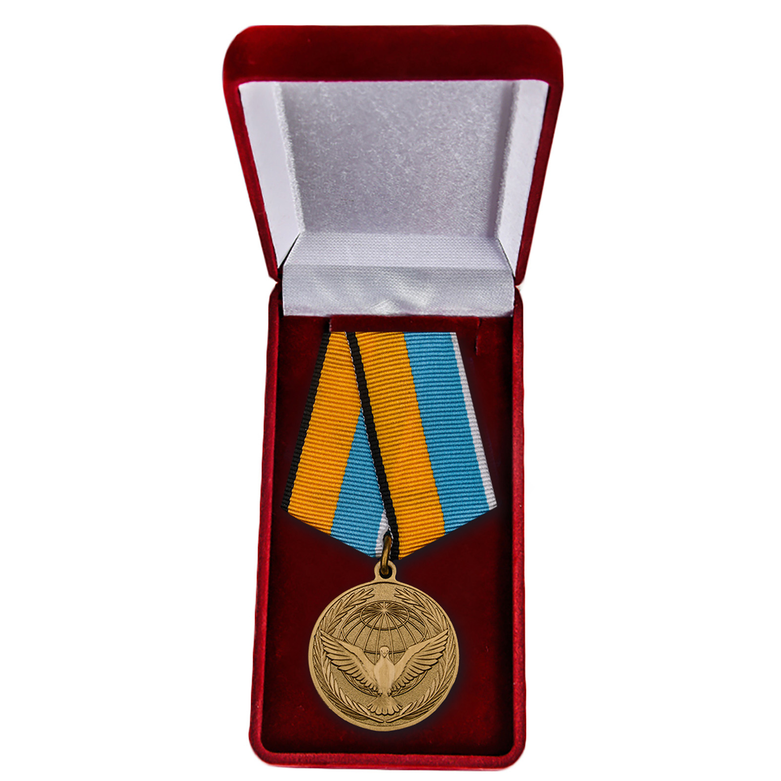 """Медаль МО """"Участнику миротворческой операции"""" в футляре"""