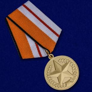 """Медаль МО """"За отличие в соревнованиях"""" 1 степени в бархатистом футляре из флока - общий вид"""
