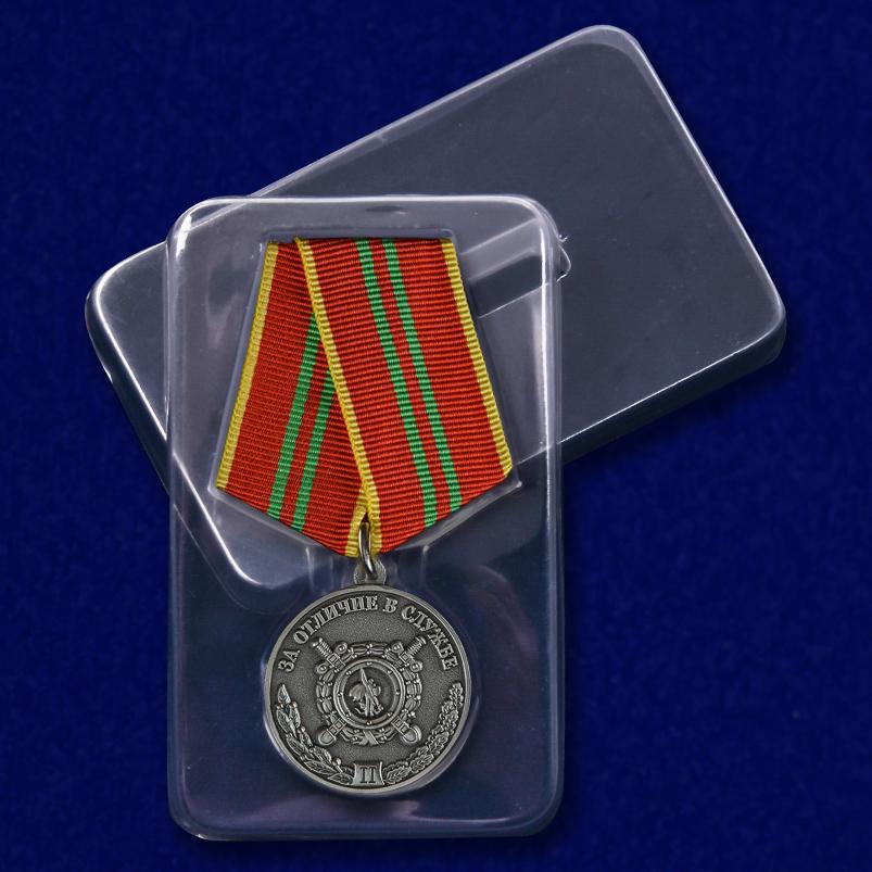 Медаль МВД РФ За отличие в службе 2 степени - в пластиковом футляре