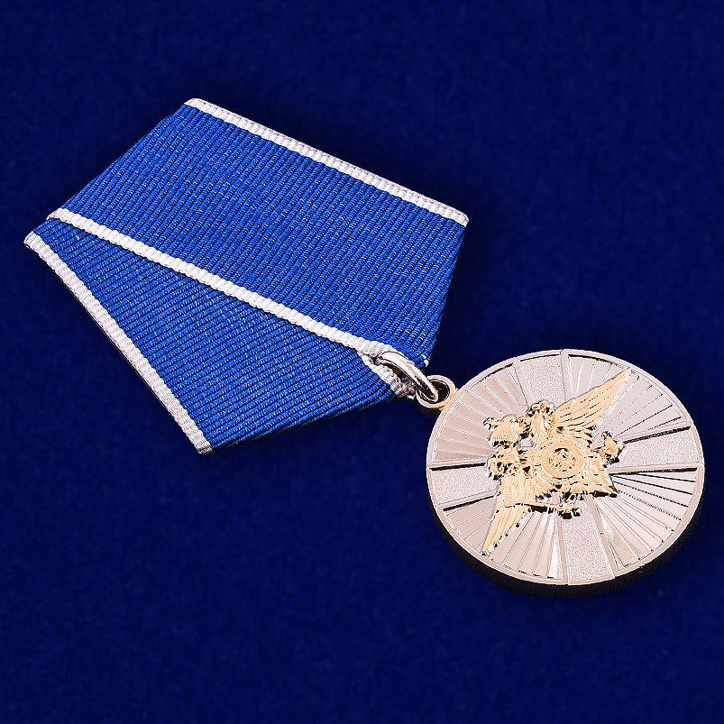 Медаль МВД РФ За заслуги в службе в особых условиях - общий вид