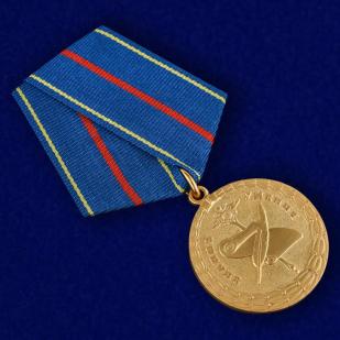 Медаль МВД РФ За заслуги в управленческой деятельности 1 степени - общий вид
