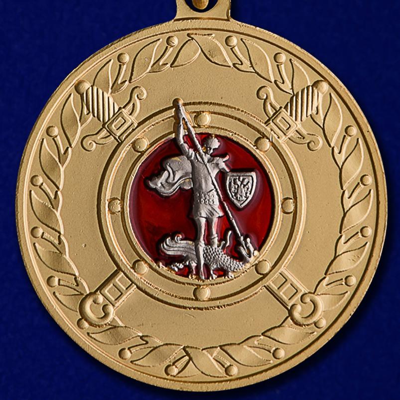 """купить медаль МВД """"За добросовестную службу"""" в нарядном футляре из флока."""