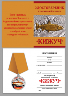 Удостоверение к медали Похвальная Кижуч
