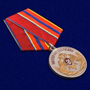 """Медаль Росгвардии """"Ветеран службы"""" в футляре наградном"""