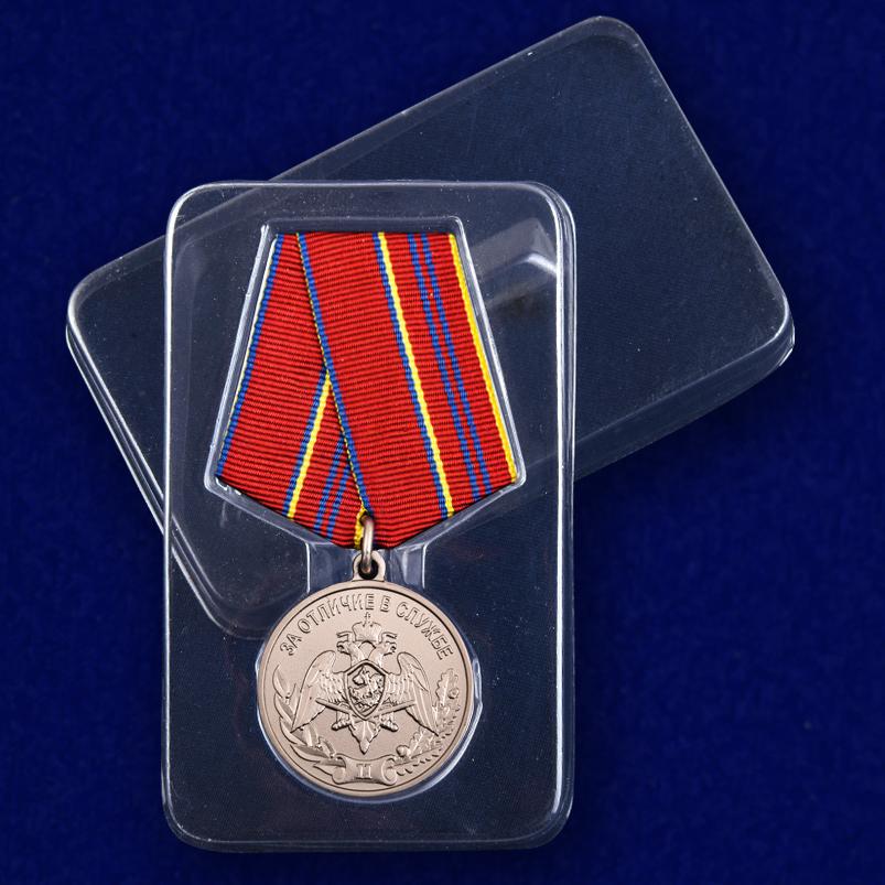 """Медаль Росгвардии """"За отличие в службе"""" 2 степени с доставкой"""