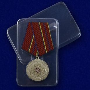Медаль Росгвардии За отличие в службе 1 степени - в пластиковом футляре