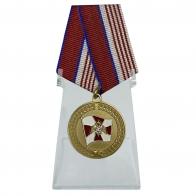 Медаль Росгвардии За содействие на подставке