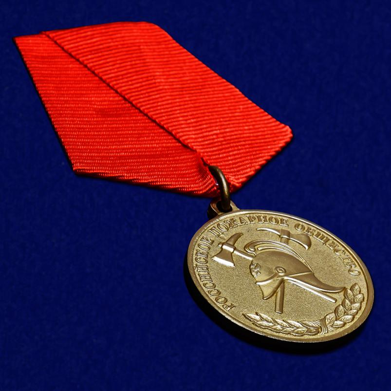 Медаль Российского пожарного общества За образцовую службу - общий вид