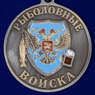 """Медаль рыбака """"Лещ"""" в наградном футляре с покрытием из флока в подарок"""