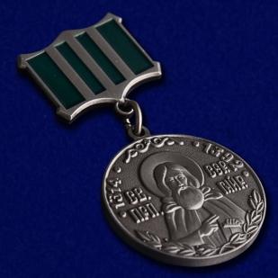 Медаль Сергия Радонежского 2 степени в красивом футляре из флока - общий вид