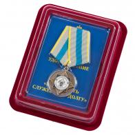 """Медаль СК РФ """"За верность служебному долгу"""" в нарядном футляре из флока"""