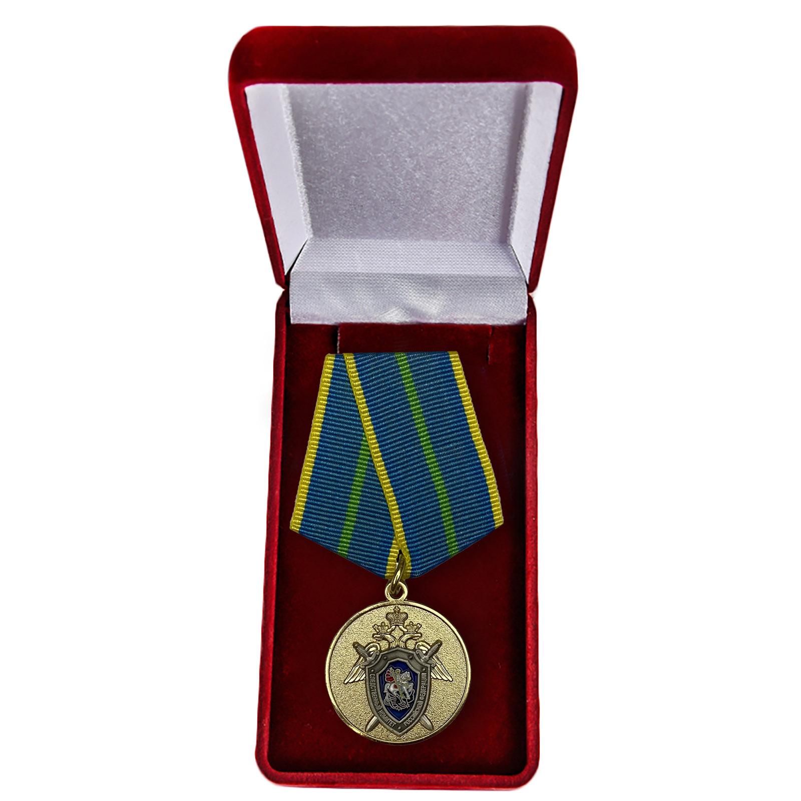 Медаль СК России За безупречную службу 1 степени - в футляре