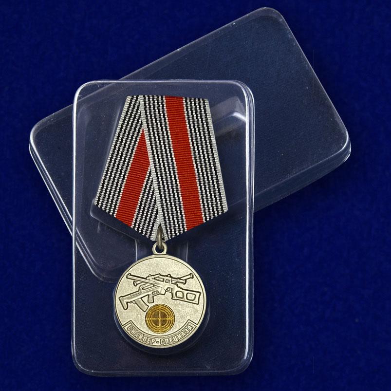 Медаль Снайпер спецназа - вид в футляре