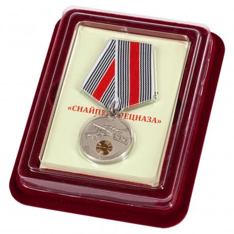 """Медаль """"Снайпер Спецназа"""" в футляре с покрытием из бархатистого флока"""