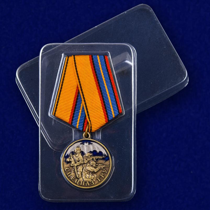 Медаль Спецназ ГРУ - в пластиковом футляре