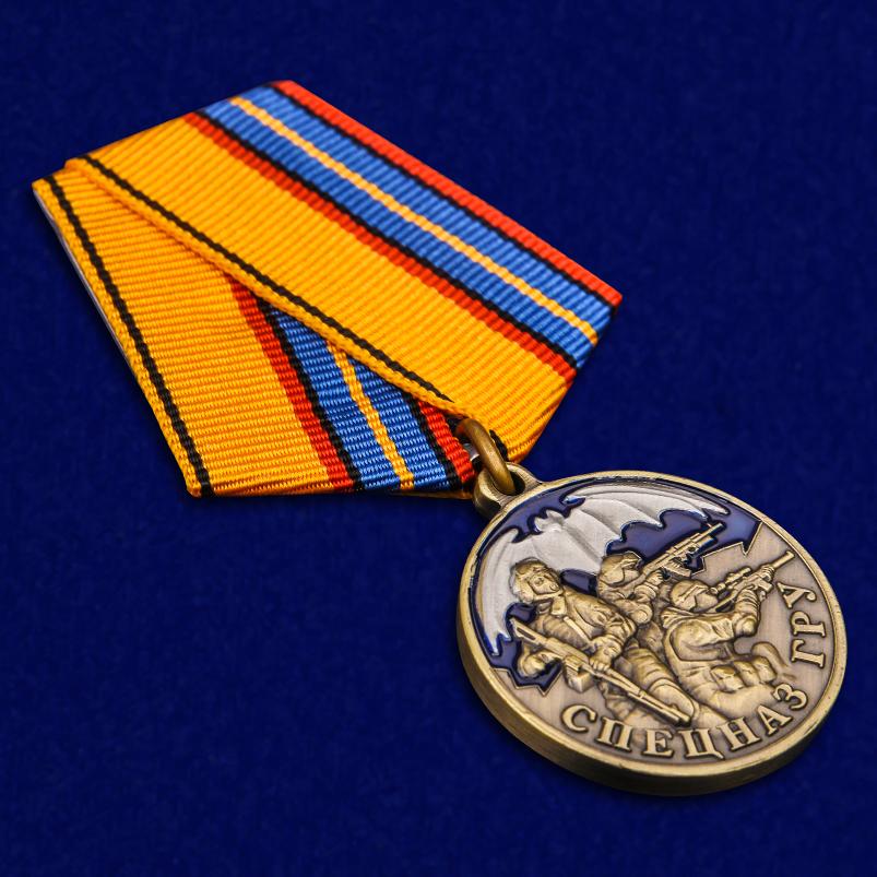 """Медаль """"Спецназ ГРУ"""" в наградном футляре с удостоверением от Военпро"""