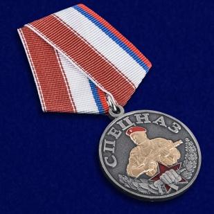 Медаль Спецназ в нарядном футляре з флока - общий вид