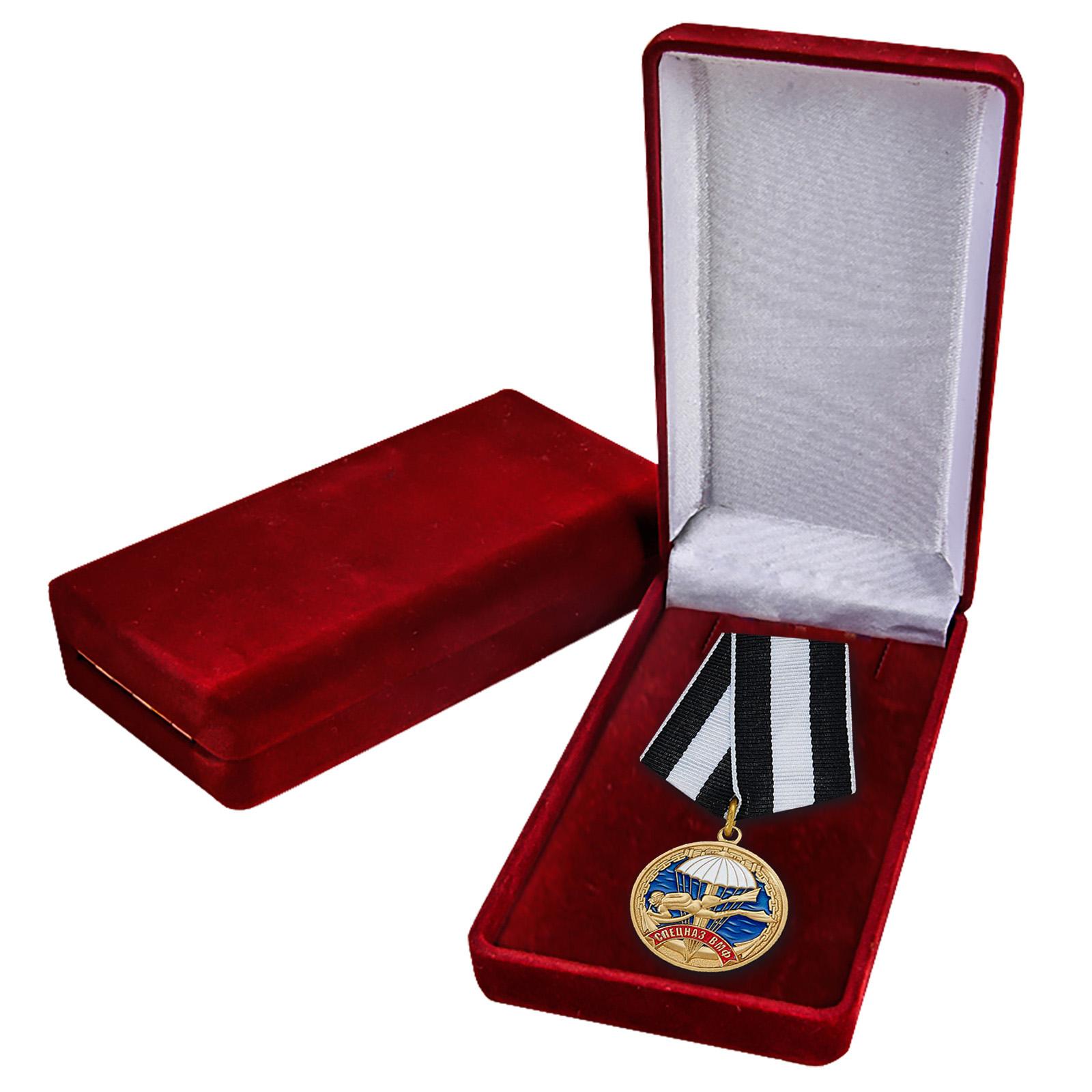 Медаль Спецназа ВМФ в футляре