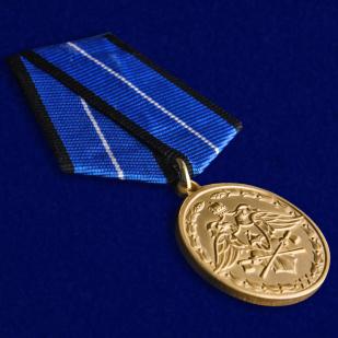 """Медаль Спецстроя """"За безупречную службу"""" 1 степени в футляре от Военпро"""