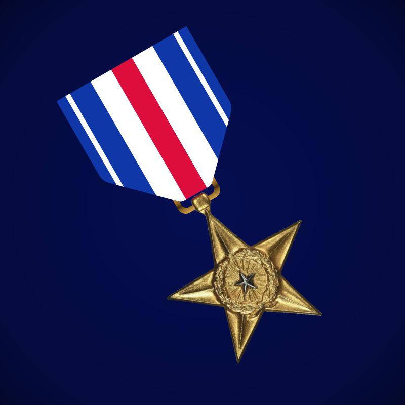 """Медаль США """"Серебряная звезда"""""""