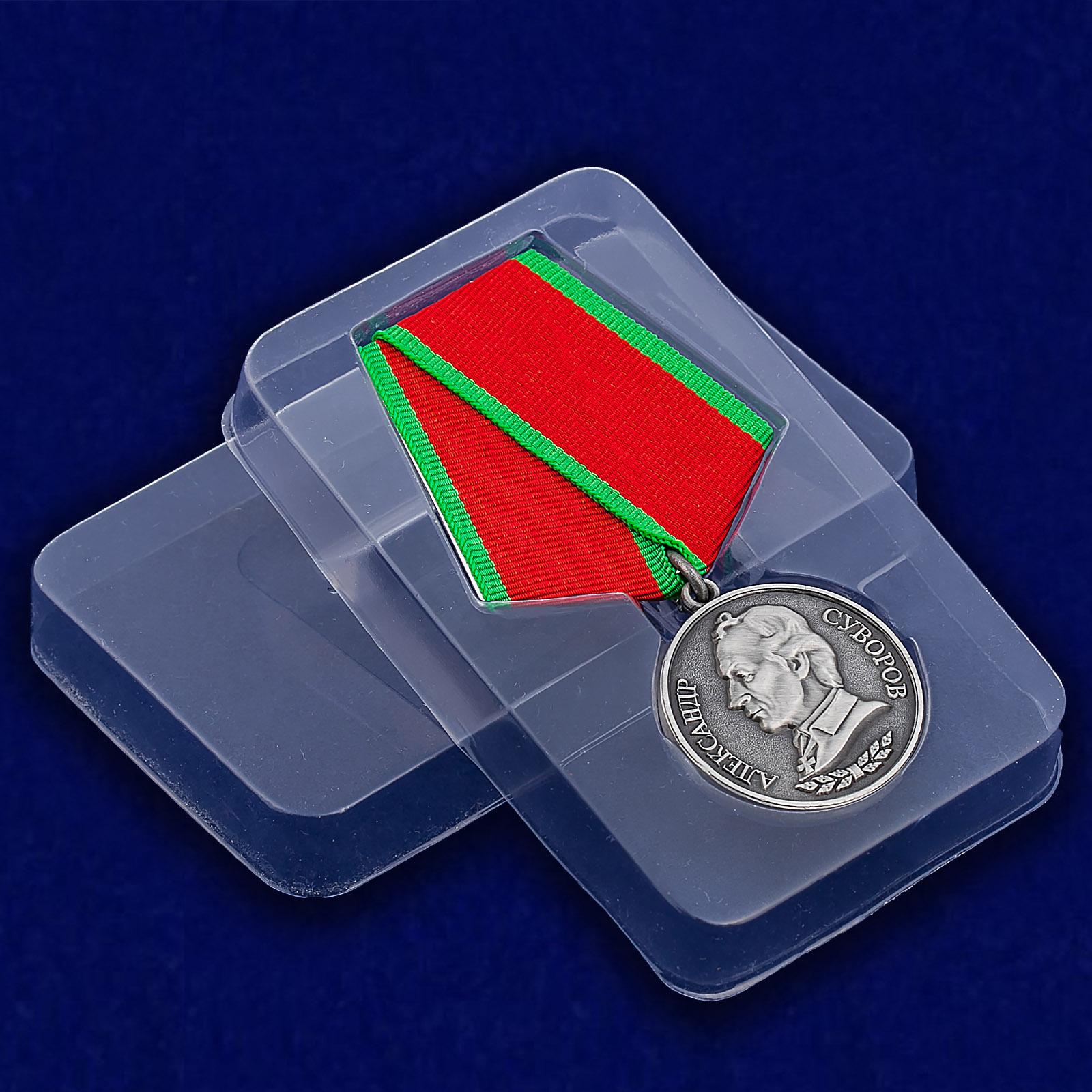 Медаль Суворова в пластиковом футляре